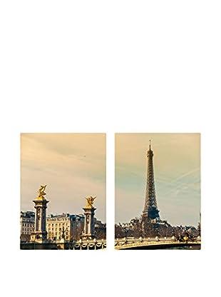 Really Nice Things Leinwandbild 2er Set Paris