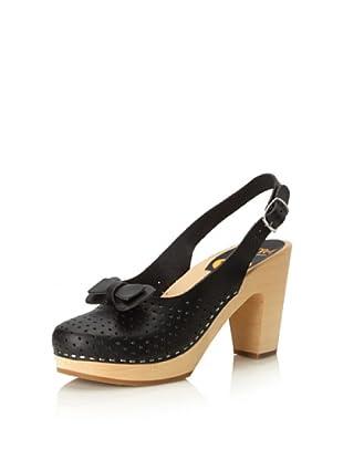 Swedish Hasbeens Women's Mimmi Slingback Sandal (Black)