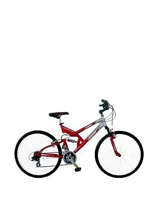 Girardengo Bicicleta Mtb Full Suspensión Acero Rojo / Gris Única