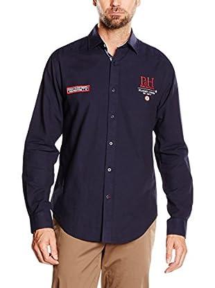 Pedro del Hierro Camisa Hombre Big Logo Pespuntes Navy Azul S