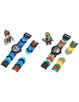 Lego Kid's Amazon Exclusive 9009587 Legends of Chima Lennox and Crawley 2 Pack Analog Watches With Minifigures