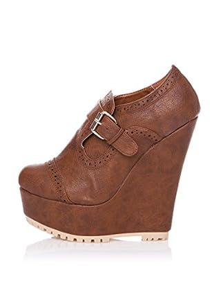 Furiezza Zapatos Abotinados Hebilla (Cuero)
