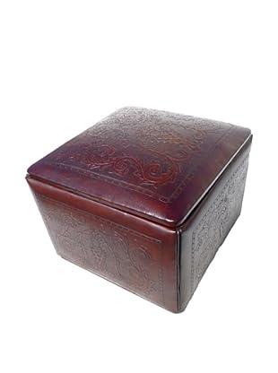 New World Trading Jumbo Ottoman Box, Antique Brown