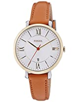 Fossil Jacqueline Analog White Dial Women's Watch - ES3737