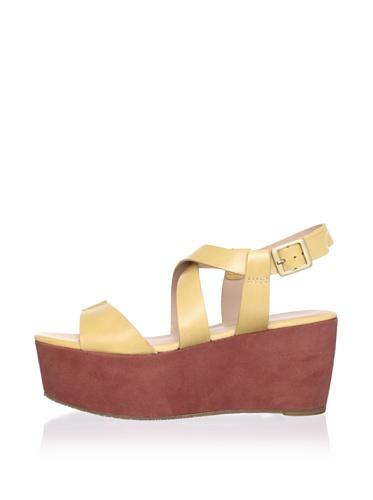 Pour La Victoire Women's Noele Platform Sandal (Tan/Rust)