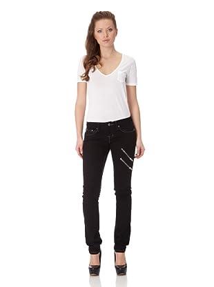 Antique Rivet Jeans Joanna (Jet Black)