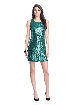 JB by Julie Brown Women's Leah Sleeveless Sequined Dress (Teal Green)