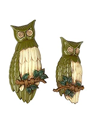 Uptown Down Previously Owned Set of 2 Painted Owl Wall Décor