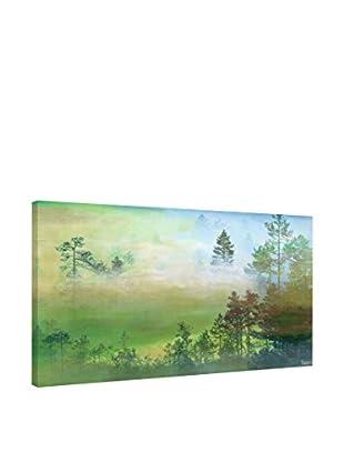 Parvez Taj Leinwandbild Misty Pine Forest