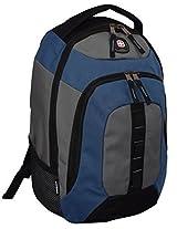 "SwissGear® 16"" Complex Padded Laptop Backpack/School Travel Bag-Black/Blue/Grey"
