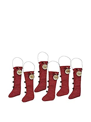 Set of 6 Stocking Ornaments
