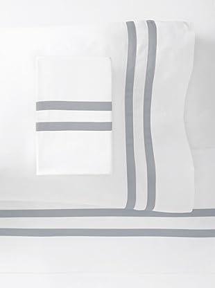 Errebicasa Como 300 TC Sheet Set (White/Fog)