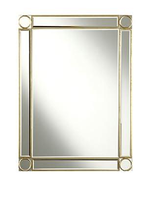 Audrey Mirror Accented Rectangular Mirror, Gold Leaf