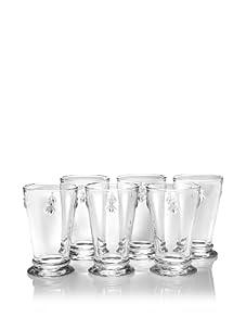 La Rochère Set of 6 Bee Décor Glasses