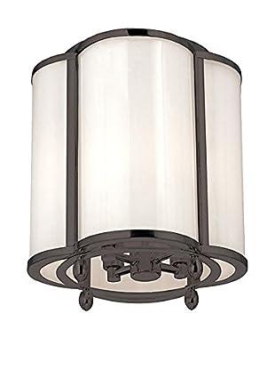Hudson Valley Lighting Berkshire 4-Light Semi Flush, Old Bronze/Clear/White