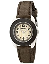 Sprout Women's ST1018BNIVBN Eco-Friendly Corn Resin and Brown Organic Cotton Strap Watch