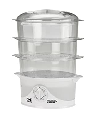 Kalorik 3-Tier Food Steamer, White