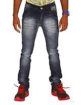 Altran's Men's Modern Narrow Lycra Jeans In Osaka Blue 5287DK (Size:- 28)
