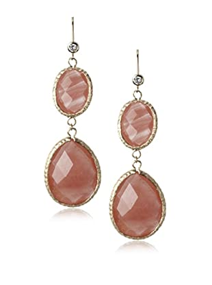 Rivka Friedman Guava Quartz 18K Gold-Plated Drop Earrings