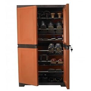 Nilkamal Freedom Brown Shoe Cabinet - FMSC18