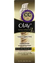 Olay CC Cream - Total Effects Tone Correcting Moisturizer with Sunscreen Broad Spectrum SPF 15, 1.7 Fluid Ounce