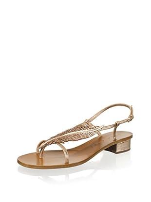 Lola Cruz Women's Feather Flat Sandal (Cobre)