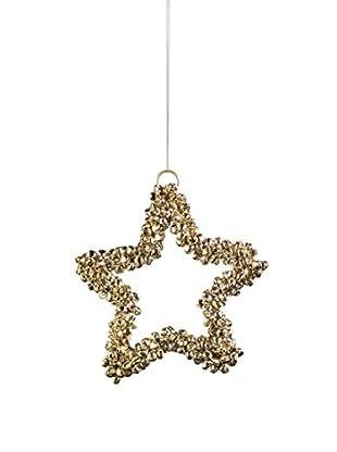 Medium Gold Jingle Bell Star Ornament