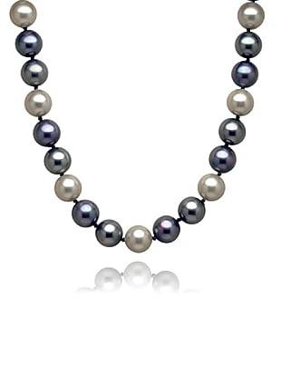 Perldor 60650056 - Collar de mujer de plata de ley con perla natural Plata/Azul 48 cm