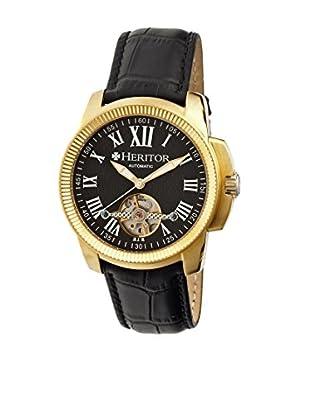 Heritor Automatic Uhr Franklin Herhr2904 schwarz 46  mm