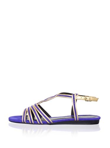 Pour La Victoire Women's Farida Sandal (Gold/Cobalt)