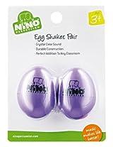 Nino Plastic Egg Shaker Pairs Aubergine