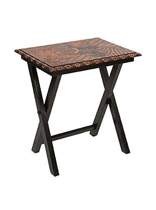 Colonial Style Beistelltisch Batik schwarz