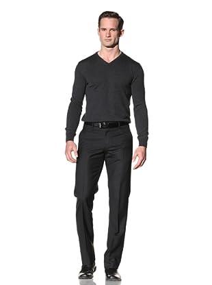 Calvin Klein Collection Men's Hudson Wool Pants (Black)
