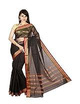 Manisha Silks Cotton Saree (Manipashpur0026 _Black)