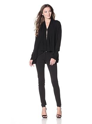Calvin Klein Women's Zip Flyaway Sweater (Black)