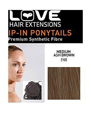 Love Hair Extensions Kunsthaar-Pferdeschwanz Percilla mit Kordelzug 40cm 10 Medium Ash Brown