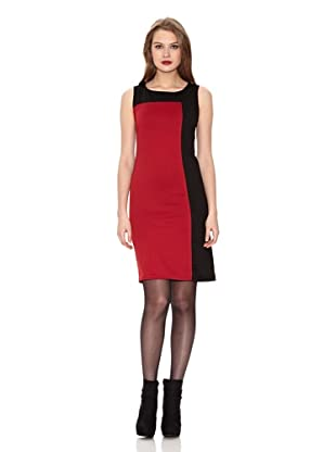 Assuili Vestido Bicolor (Negro / Rojo)