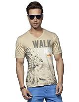 Do U Speak Green Soft Peach Printed Men T shirt DUSG 175