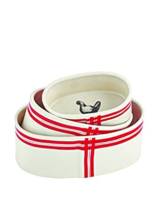 Rae Dunn by Magenta Set of 3 Farm Animal Oval Ramekins, White