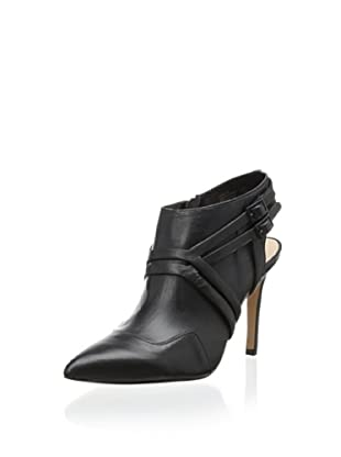 Pour La Victoire Women's Nevan Open Back Bootie (Black Leather)