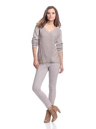 Calvin Klein Women's Mixed Stitch Sweater (Heather/Birch)