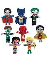 "20 Dc Comics 2.5"" String Doll Party Favors (Includes Superman, Batman, Wonder Woman, Aquaman, Green Lantern, Robin, Flash, And The Joker"