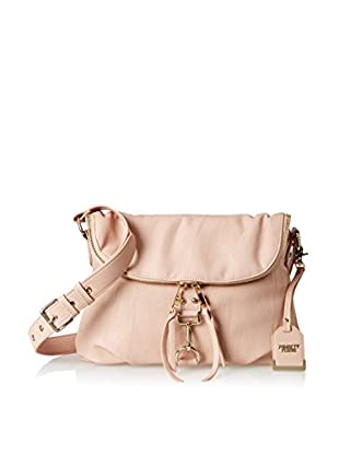 POVERTY FLATS by rian Women's Tunnel Flap Shoulder Bag, Blush