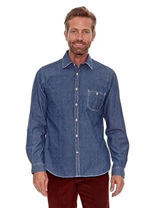 Cortefiel Camisa Estampado (Azul Marino)