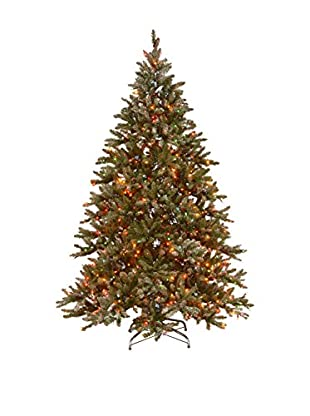 National Tree Company 9' Snowy Concolor Fir Hinged Tree