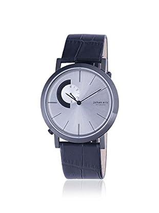 Johan Eric Men's JE1500-13-001 Randers Black/Silver Leather Watch