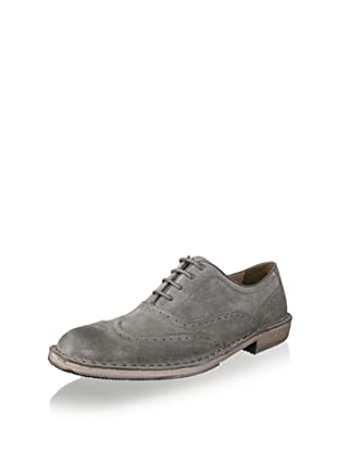 Andrew Marc Men's Dyker Wingtip (Elephant/Black/Natural)