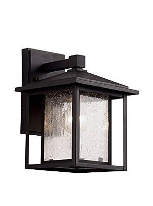 Bel Air Lighting 1-Light Wall Lantern, Black