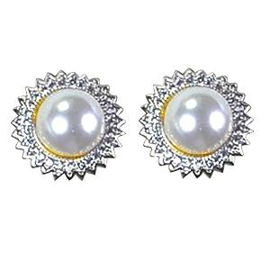 Pearl Paradise Silver Cz Earring