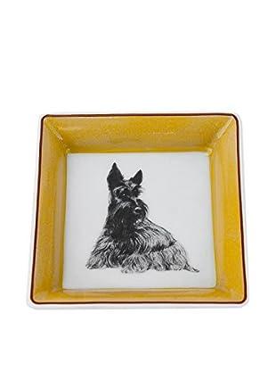 Hermès Scottie Dog Dish, White/Yellow/Grey